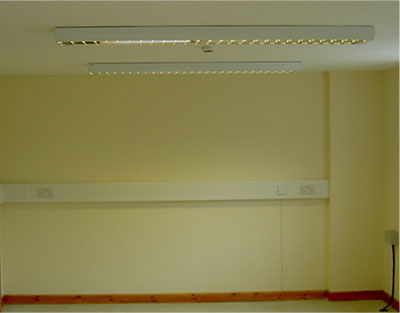 Example of office lights and socket installation